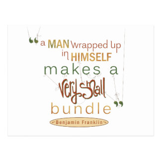 Benjamin Franklin Quote Very Small Bundle Postcard