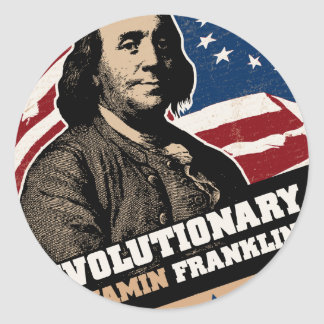 Benjamin Franklin Revolutionary Sticker