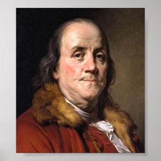 Benjamin Franklin vintage image art print