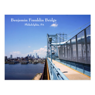 Benjamin Frankling Bridge Postcard