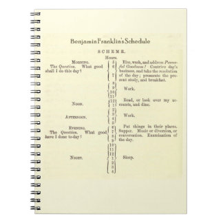 Benjamin Franklin's Schedule Notebook