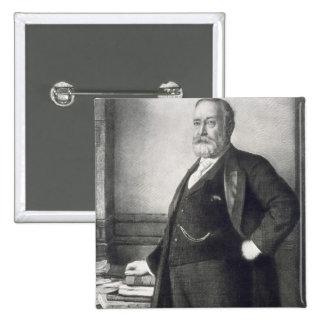 Benjamin Harrison (1833-1901), 23rd President of t 2 Inch Square Button