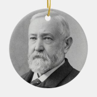Benjamin Harrison 23rd President Ceramic Ornament