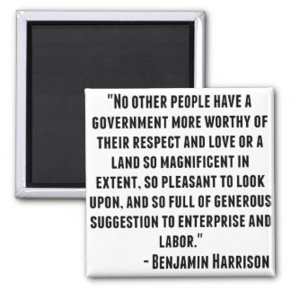 Benjamin Harrison Quote Square Magnet