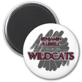 Benjamin Russell Wildcats - Alexander City, AL 2 Inch Round Magnet