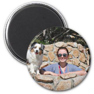 Bennett - Aussie Mini - Rosie - Carmel Beach 2 Inch Round Magnet