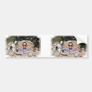 Bennett - Aussie Mini - Rosie - Carmel Beach Bumper Sticker