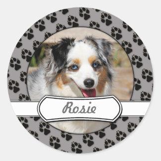 Bennett - Aussie Mini - Rosie - Carmel Beach Classic Round Sticker
