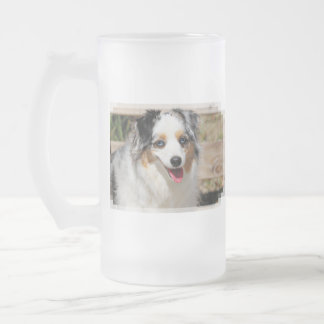 Bennett - Aussie Mini - Rosie - Carmel Beach Frosted Glass Beer Mug