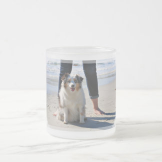 Bennett - Aussie Mini - Rosie - Carmel Beach Frosted Glass Coffee Mug