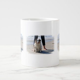 Bennett - Aussie Mini - Rosie - Carmel Beach Giant Coffee Mug