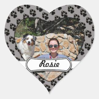 Bennett - Aussie Mini - Rosie - Carmel Beach Heart Sticker