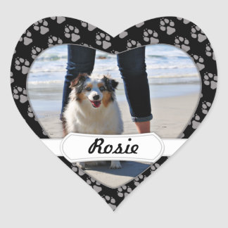 Bennett - Aussie Mini - Rosie - Carmel Beach Heart Sticker