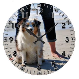 Bennett - Aussie Mini - Rosie - Carmel Beach Large Clock