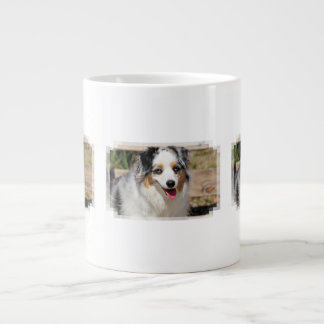 Bennett - Aussie Mini - Rosie - Carmel Beach Large Coffee Mug