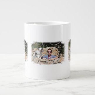 Bennett - Aussie Mini - Rosie - Carmel Beach Large Coffee Mug