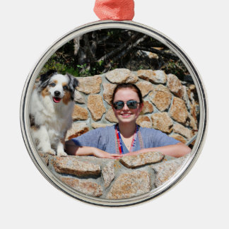 Bennett - Aussie Mini - Rosie - Carmel Beach Metal Ornament