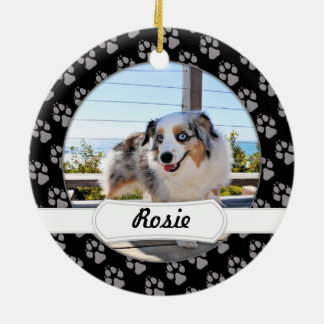 Bennett - Aussie Mini - Rosie - Carmel Beach Round Ceramic Ornament