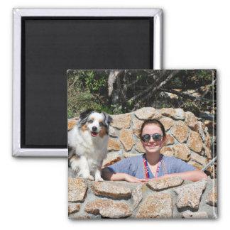 Bennett - Aussie Mini - Rosie - Carmel Beach Square Magnet