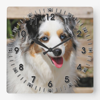 Bennett - Aussie Mini - Rosie - Carmel Beach Square Wall Clock