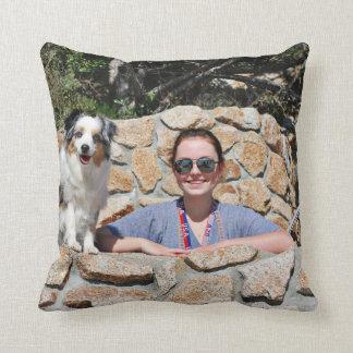 Bennett - Aussie Mini - Rosie - Carmel Beach Throw Pillow