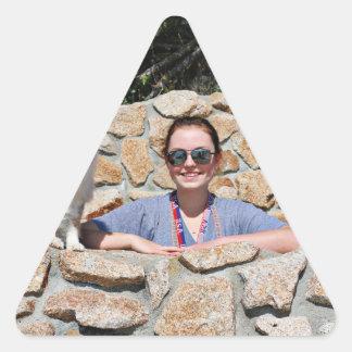 Bennett - Aussie Mini - Rosie - Carmel Beach Triangle Sticker