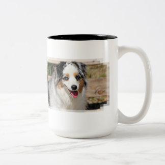 Bennett - Aussie Mini - Rosie - Carmel Beach Two-Tone Coffee Mug