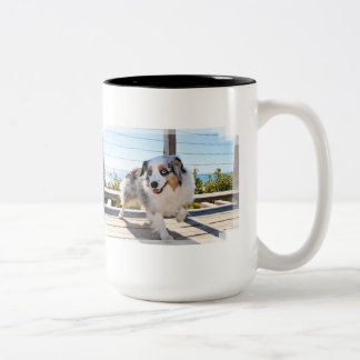 Bennett - Aussie Mini - Rosie - Carmel Beach Two-Tone Coffee Mug
