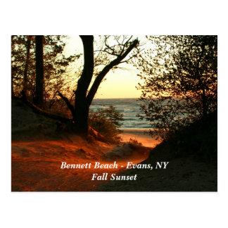 Bennett Beach - Evans, NY Postcard