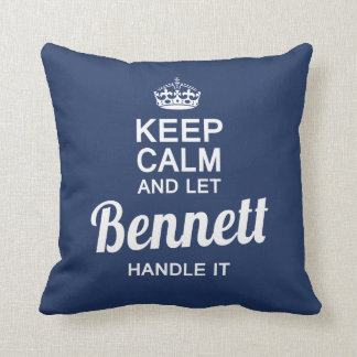 Bennett handle it! throw pillow