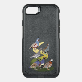BennuBirdy Quail of North America (no text) OtterBox Commuter iPhone 8/7 Case