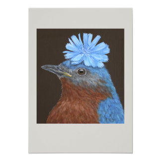 Benny the bluebird flat card