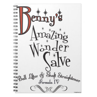 Benny's Amazing ! 100% pureSnake Oil Notebooks
