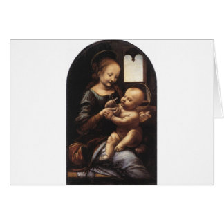 Benois Madonna by Leonardo Da Vinci circa 1478 Card