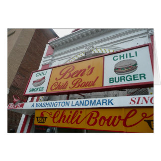 Ben's Chili Bowl, Washington DC, iconic landmark Card