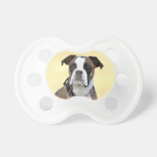 Benson the Boxer dog Baby Pacifiers