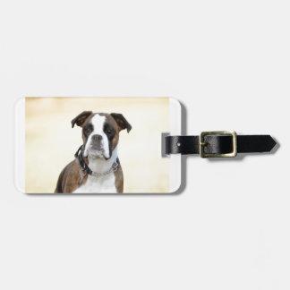 Benson the Boxer dog Luggage Tag