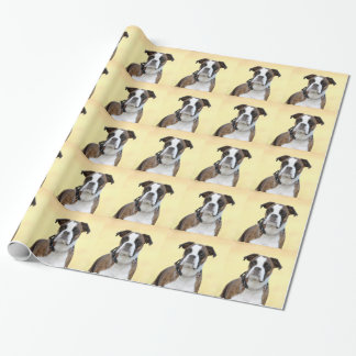Benson the Boxer dog Wrapping Paper