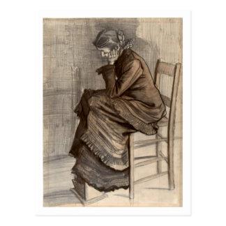Bent Figure of a Woman, Vincent van Gogh Postcard