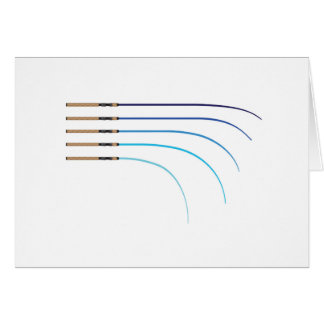 Bent Fishing rod vector curved rod blanks Card