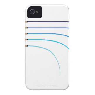 Bent Fishing rod vector curved rod blanks iPhone 4 Case-Mate Case