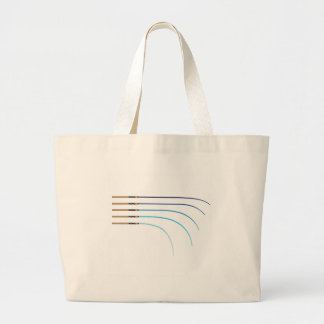 Bent Fishing rod vector curved rod blanks Large Tote Bag