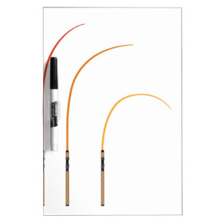 Bent fishing rod vector illustration clip-art tech dry erase board