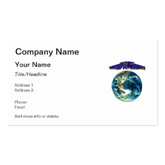 Bent On World Domination Planet Earth Humor Pack Of Standard Business Cards