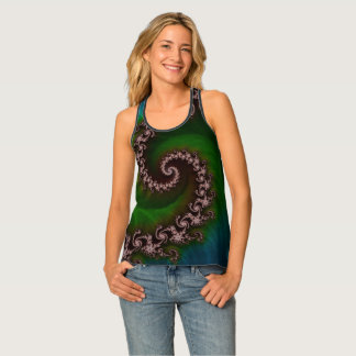 Benthic Saltlife Fractal Tribute for Reef Divers Tank Top