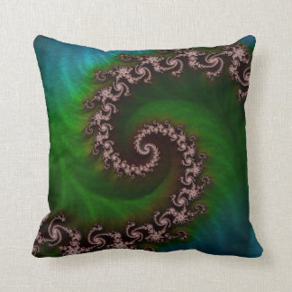 Benthic Saltlife Fractal Tribute for Reef Divers Throw Pillow