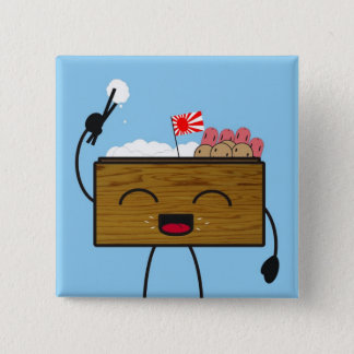 Bento-kun 2 Inch Square Button