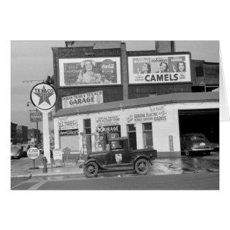 Benton Harbor Filling Station, 1940s Card