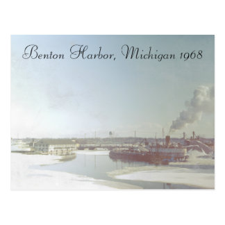 Benton Harbor Michigan and River Postcard