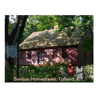 Benton Homestead, Tolland, CT. Postcard